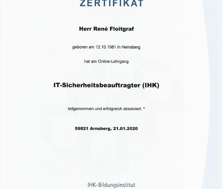 René Floitgraf, IT-Sicherheitbeauftragter (IHK)